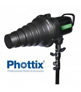 PHOTTIX PRO SNOOT CON GELES Y ADAPTADOR BOWENS