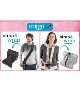 MIGGÖ STRAP & WRAP PARA CAMARAS CSC (ROJO/NEGRO)
