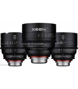 SAMYANG XEEN KIT DE CINE 24mm, 50mm, 85mm SONY E MONTURA
