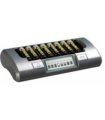 CARICABATTERIE POWEREX MH-C800S PACK PLUS CON 8 BATTERIE 2700MA