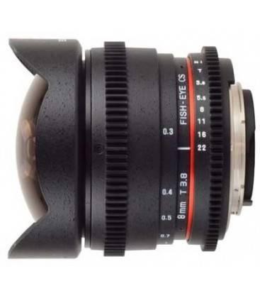 SAMYANG 8 mm T3.8 V-DSLR II PER CANON