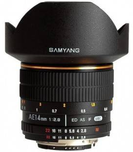 SAMYANG 14MM F/2.8 AE AD ES  IF UMC SUPER GRAN ANGULAR PARA NIKON