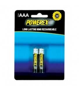 POWEREX PACK 2 AAA NiMH 1,2v 1000mAh batterie ricaricabili AAA NiMH 1,2v 1000mAh