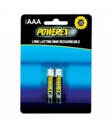 POWEREX PACK 2 piles rechargeables AAA NiMH 1,2v 1000mAh 1000mAh