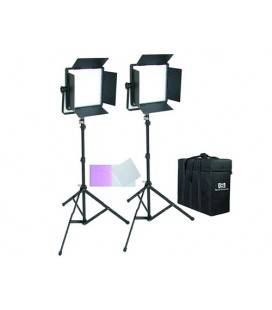 CROMALITE KIT 2 PANEL LED CN-600SA WITH FINS LIGHT DAY + SUITCASE