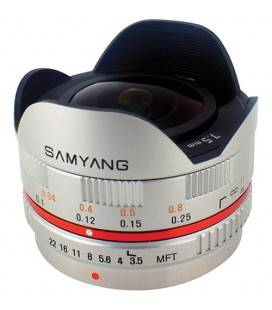 SAMYANG 7.5MM F3.5 UMC FISH EYE MICRO 4/3 SILBER