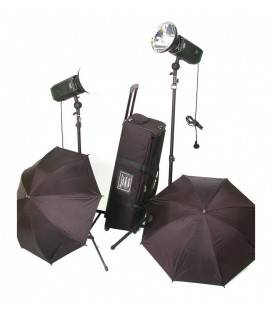CROMALITE KIT 2 FOCOS LED STUDIO COOLED HPL1600/200