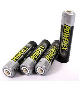 POWEREX MHRAAA4-1000 - PACK 4 AAA NiMH batteries 1,2v 1000mAh