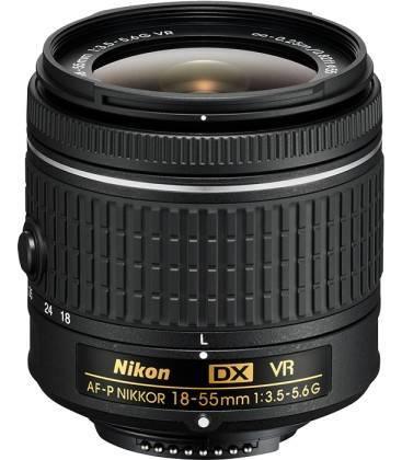NIKON AF-P 18-55mm  f/3.5-5.6G VR  (SOLO COMPATIBLE CON NIKON D3300/D3400/D5300/D5500/D5600)