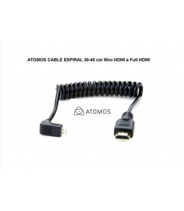 ATOMOS CABLE ESPIRAL 30-45 cm Mini HDMI a Full HDMI