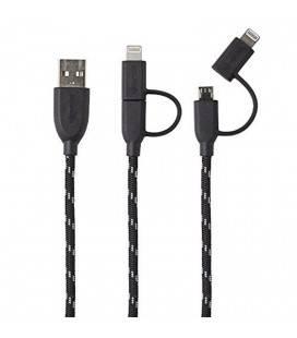 CAVO BOOMPODS DUO CAVO INTRECCIATO 1M FULMINI/MICRO USB A USB A USB