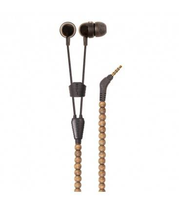 WRAPS HEADPHONES NATURAL WALNUT AND BRACELET WITH MICRO