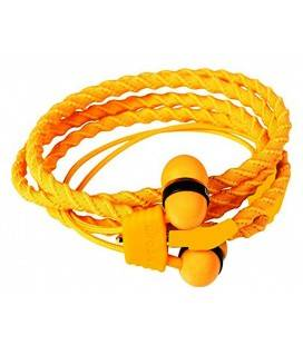WRAPS HEADPHONES WITH MICRO/COLOR ORANGE SUNRISE AND BRACELET