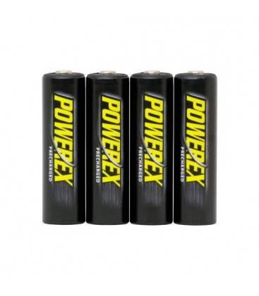 POWEREX BATERIAS PRECARGADAS (4 PZAS DE AA) 2600MAH