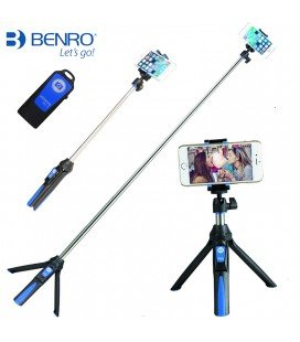 BENRO MINI TRÉPIED + PALO SELFIE BLUETOOTH  MK10 BLEU