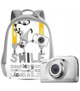 NIKON COOLPIX W100 WHITE KIT + BACKPACK