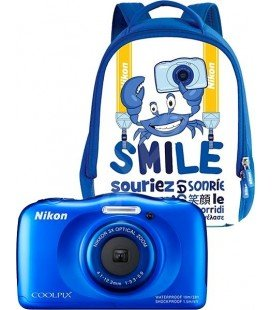 NIKON COOLPIX W100 BLUE KIT + BACKPACK