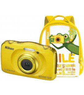 KIT NIKON COOLPIX W100 GIALLO + ZAINO