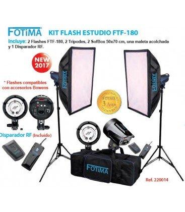 FOTIMA FTF-180 - KIT DE FLASH DE ESTUDIO 2X180W