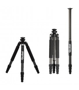 ROLLEI TRIPOD ROCk SOLID BETA 4 SECTIONS EN CARBONE