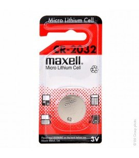 MAXELL BUTTON STACK CR2032