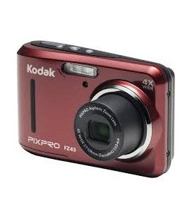 KODAK PIXPRO FZ43 RED + 4 BATTERIES AND CASE