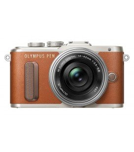 OLYMPUS E-PL8 PEN + 14-42MM PANCAKE BROWN+SILVER + FREE ONLINE COURSE HELLO! CREATIVITY