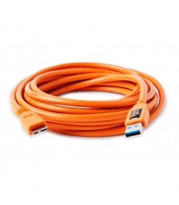 TETHERTOOLS CABLE USB 3.0 MACHO A MICRO B 4.6 M NARANJA