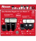 NISSIN KIT 2iI60 NIKON 2FLASHES + TRANSMISOR AIR 1