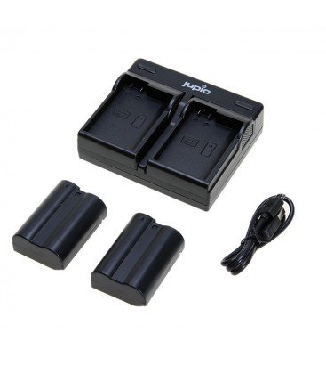 jJUPIO KIT CARGADOR DUAL USB + 2 BATERIAS EN-EL14A 1100MAH (CNI1003) JUPIOZoom  KIT CARGADOR DUAL USB + 2 BATERIAS EN-EL14A