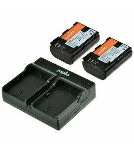 JUPIO KIT CARGADOR DUAL USB + 2 BATERIAS LP-E6  (CCA1002)