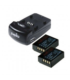 JUPIO DUAL USB CHARGER KIT + 2 NP-W126 BATTERIES
