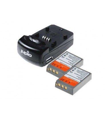 JUPIO KIT CARGADOR USB + 2 BATERIAS PS-BLS5/PS-BLS50