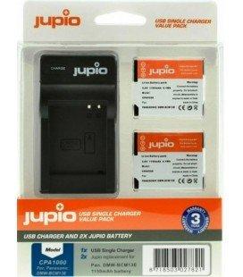 JUPIO 2 BATTERIES DMW-BCM13E PANASONIC + USB CHARGER KIT 1150MAH (CPA1000)