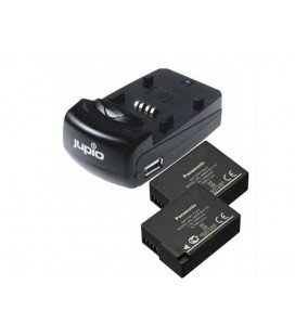 JUPIO USB CHARGER KIT + 2 BATTERIES DMW-BLC12E 1200MAH (CPA1001)