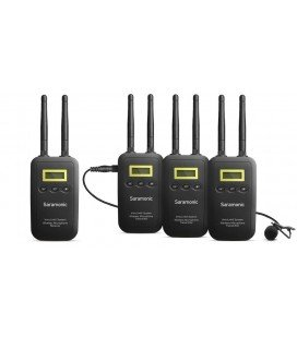 SARAMONIC VMICLINK5 - THREE TRANSMITTER AND RECEIVER WIRELESS SYSTEM WITH MONITOR