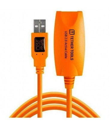 TETHER TOOLS  TEHTERPRO USB 2.0 ACTIVE EXTENSION 5MTS. NARANJA
