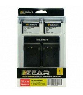 ZEAR KIT CANON  2 LP-E17 BATTERIES + DUAL USB CHARGER