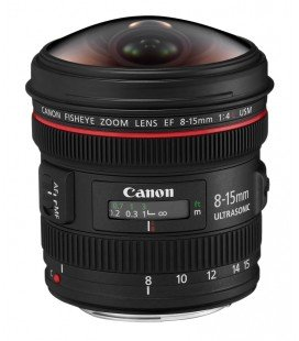 CANON EF 8-15mm f/4L FISHEYE USM + 1 ANNO GRATUITO SERPLUS CANON VIP MAINTENANCE SERPLUS CANON