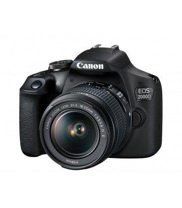 CANON EOS 2000D + 18-55MM  F3.5-5.6 È II KIT + + + 1 ANNO DI MANUTENZIONE GRATUITA VIP SERPLUS CANON VIP SERPLUS