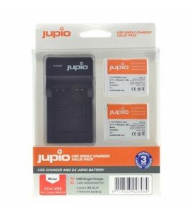 JUPIO 2 BATTERIES NB-6LH CANON + CHARGEUR USB (CA1006)