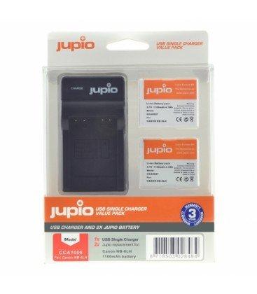 JUPIO 2 BATERIAS NB-6LH + CARGADOR USB (CA1006)