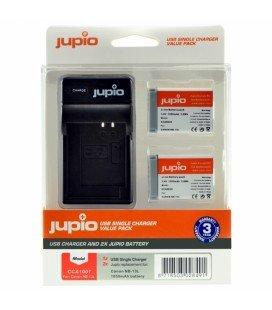 JUPIO 2 BATTERIEN NB-13L CANON + USB-LADEGERÄT KIT (CA1007)