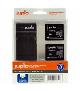 JUPIO 2 BATERIAS DMW-BLG10 PANASONIC + CARGADOR USB (CPA1005)