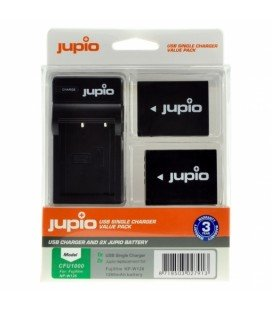 JUPIO 2 BATTERIE NP-W126S FUJIFILM + CARICABATTERIE USB (CFU1001)