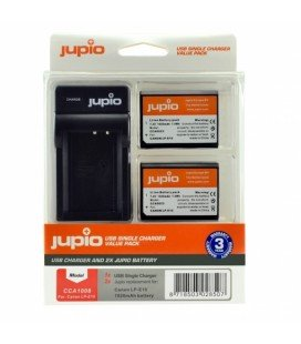 JUPIO 2 BATTERIES LP-E10 CANON + CHARGEUR USB (CCA1008)