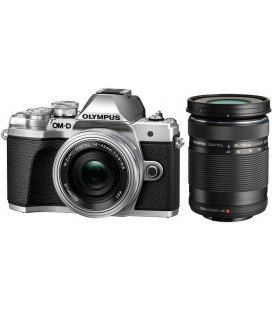 OLYMPUS OM-D E-M10 MARK III + 14-42mm EZ + 40-150mm KIT 2 OBJECTIVES - SILVER