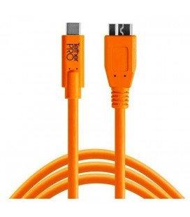 TETHER TOOLS CABLE USB-C 3.0 MICRO B 4.6M NARANJA