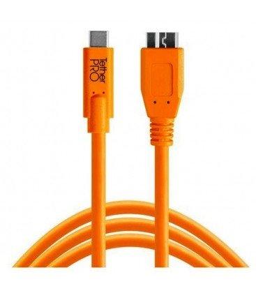 TETHERTOOLS CABLE USB-C 3.0 MICRO B 4.6M NARANJA