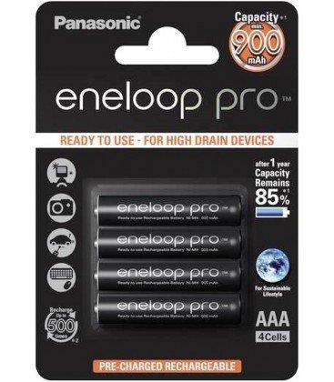 PANASONIC ENELOOP PRO 4 LR3 (AAA) 900MAH BATERIAS PRECARGADAS